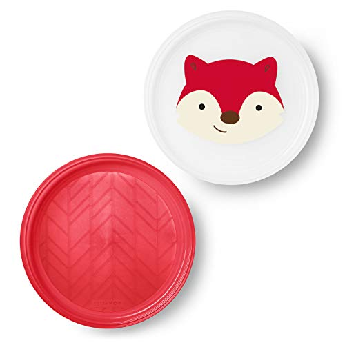 Skip Hop Zoo Smart Serve Plates Fox, Pack of 2