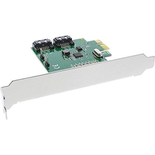 InLine 76696C Schnittstellenkarte, 2-fach SATA 6Gb/s, x1 PCIe 2.0, RAID 0/1/SPAN, mit LP-Slotblech
