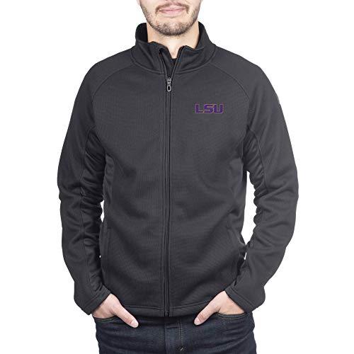 Spyder Lsu Tigers Men's Constant Full Zip Sweater Black Gameday Jacket, Medium