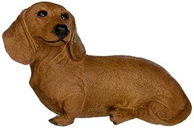 Design Toscano CF3239 Brown Dachshund Puppy Dog Statue, Multicolored