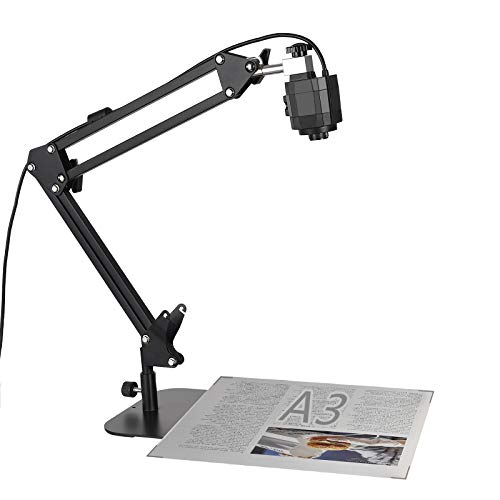 Document Camera for Teaching, USB Webcam for Distance Learning, Video Conferencing, Remote Working, Stop Motion, Time Lapse, Overhead Video Recording, Classroom Real-time, Super High Definition 1080P