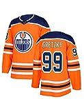 Camiseta de Hockey sobre Hielo, n.o 97 McDavid, n.o 99 Gretzky, n.o 27 Lucic Sudaderas Deportivas Transpirables para fanáticos del Hockey Camiseta de Secado rápido para Jugadores de Manga Larga