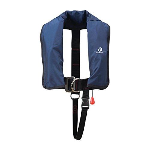 12skipper Kinder-Automatikweste 150N mit Lifebelt, UML, marineblau