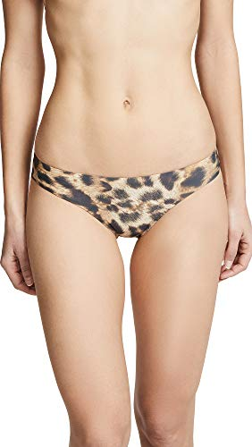 PQ Swim Women's Jungle Basic Ruched Bikini Bottoms - Moderate Rise, Fuller Coverage - Full, Medium