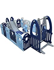 Foldable Safety Fence Playpen for Kids Activity Centre– Children Play Toy Yard with Gates for Indoor and Outdoor