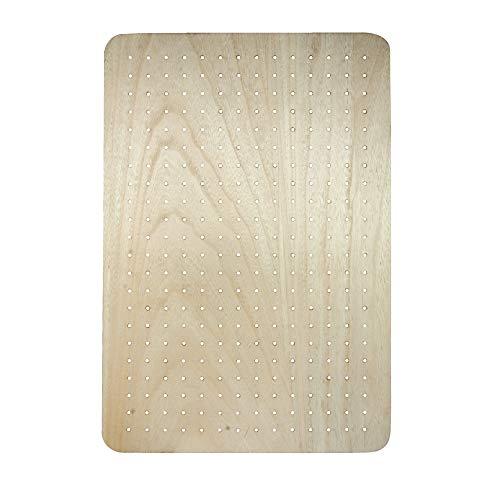 Rayher 62867505 MDF Board furniert, für Rayher Pin und Peg, 40 x 60 x 2,5 cm, inkl. Dübel und Schrauben