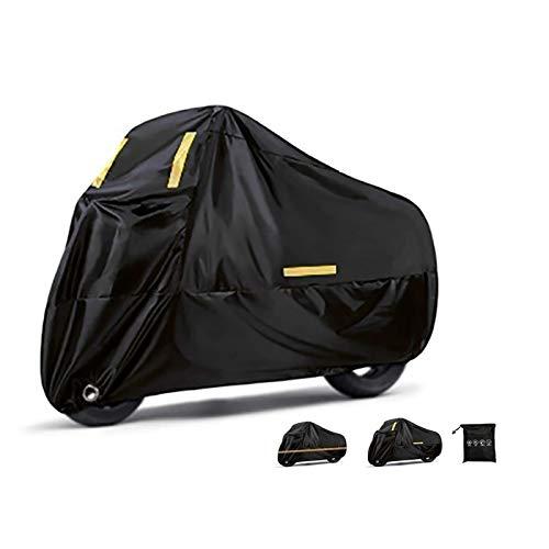 Fundas para motos Cubierta de motocicleta Compatible con la cubierta de motocicleta MV Agusta Supervelo 800, actualizada 190t espesa a prueba de agua con capucha de bicicleta duradera con tira reflect