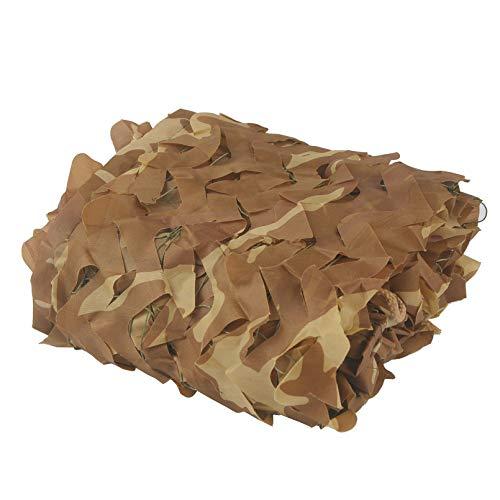 NIANXINN Filet de Camouflage du Désert,Filet D'ombrage Extérieur,Tissu Filet de Décoration D'intérieur,pour Chasse,Ombrage,Camouflage Décoration,Parasol,Terrasse Protection Solaire(2x4m/6.6x13ft)