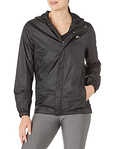 Starter Women's Standard Waterproof Breathable Jacket, Black, Large