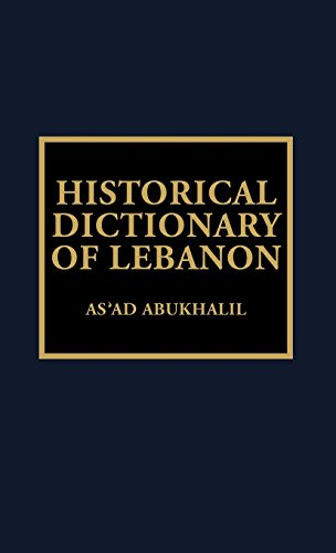Historical Dictionary of Lebanon
