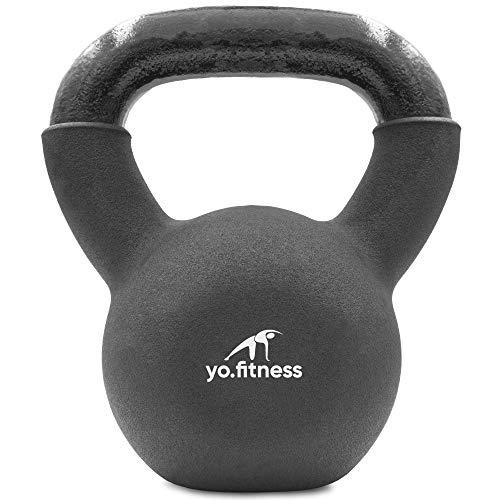 Yo.Fitness Pesa Rusa | Kettlebell | Entrena Brazo Espalda Pierna| 10 kg | Pesa para Entrenamiento | Incluye eBook con Ejercicios