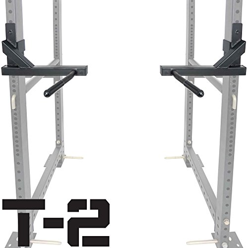 Titan T-2 Series Dip Bar Attachment for Power Rack Strength Training Workout