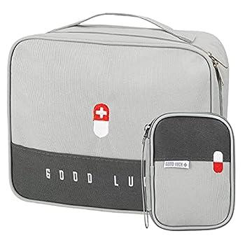 Lot de 2 sacs de secours vides étanches pour médicaments, pharmacie de voyage, mini sac de premiers secours, petit sac de premiers secours, étanche, portable