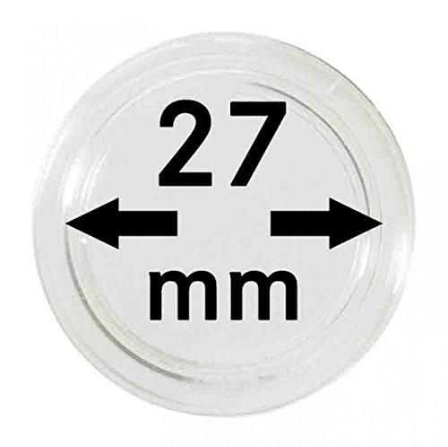 LINDNER Das Original Capsules Monnaies Ø intérieur 27 mm, Paquet de 100