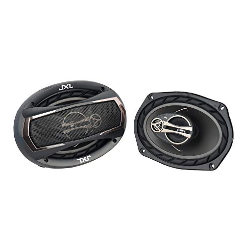 JXL 6990 Oval 3 Way High Performance Coaxial Car Speaker with Inbuilt PEI Car Tweeter and HOP Woofer 6X9 Inch 900W Pair (Black)