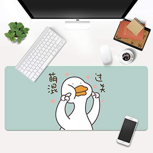 klsdKKKDMTappetino per Mouse da gioco 1000x500mmCartoon carino Pet anatra Sala giochi ufficio casa Studio Mouse Pad ufficio giochi
