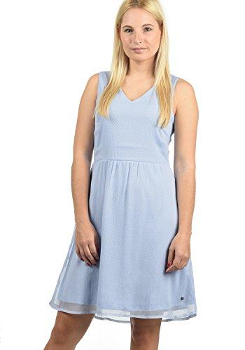 BlendShe Charly Damen Blusenkleid Lange Bluse Kleid Mit V-Ausschnitt Knielang, Größe:M, Farbe:Cashmere Blue dot (20243)