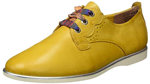 Tamaris 1-1-23219-24, Zapatos de Cordones Derby Mujer, Amarillo (Sun 602), 36 EU