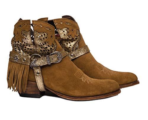 Sendra Boots 15107 Debora Stiefel Western, Braun - Tabak - Größe: 40 EU