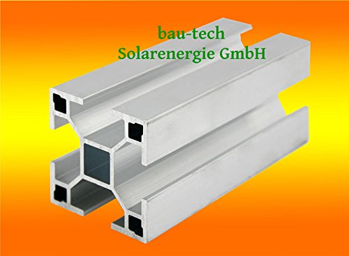 2 Meter Aluprofil Standard 40 x 40mm für Solar-, Photovoltaik- Montage von bau-tech Solarenergie GmbH/Lieferung in 1 x 2,0m