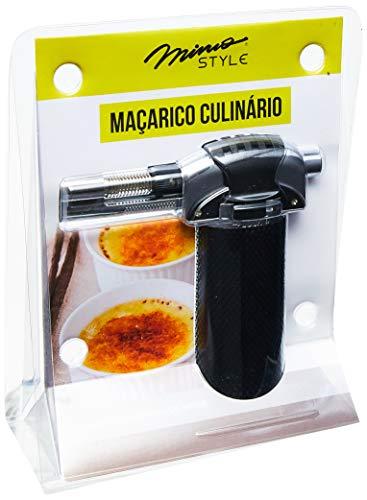 Maçarico Culinário Mimo Style Preto/Prata