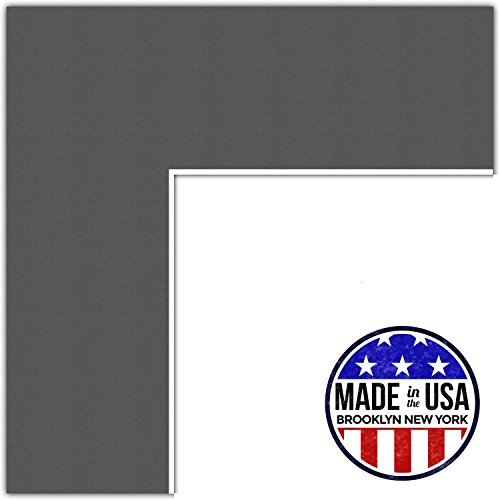 15x18 Cinder / Charcoal Custom Mat for Picture Frame with 11x14 opening size (Mat Only, Frame NOT Included)