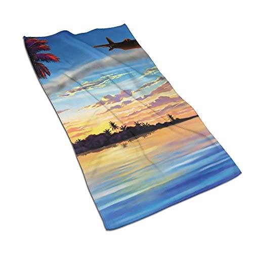 FFLSDR Toalla de baño Sunsets Planes Toalla de Playa Toallas de Mano de Gimnasio Ultra absorbentes Toalla de Viaje de baño Toalla de Cara 40 X 70 cm