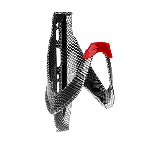 YOPOTIKA Bicycle Bottle Cage Carbon Fibre Plastic Imitation Carbon Bottle Cage (Red)