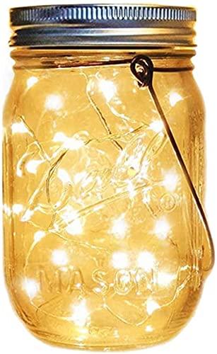 Lámpara Solar para Jardín, 1 Pack Luz Exterior 30 LED, Lámpara Solares IP65 Impermeable para Interiores/Exteriores Lámpara de Decoración Para Festival Navidad Mesa Fiesta Bodas de Patio y Césped