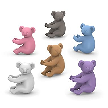 Fred SOCIAL CLIMBERS Koala Drink Markers, Set of 6