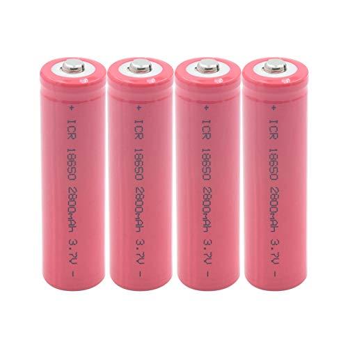 MNJKH 3.7v ICR 18650 2800mah Batería De Iones De Litio, Antorcha Banco De Energía Linterna Interphone Reemplazo De BateríAs BateríAs 4pieces