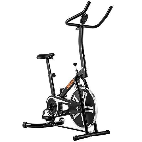 OneTwoFit Vélo d'appartement, Studio d'intérieur Cycles Entraînement Vélo Fitness avec Siège à Hauteur Réglable et Écran LED, Poids Maximum de l'Utilisateur 265lbs OT077