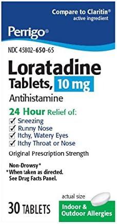 Perrigo Loratadine Max 82% OFF Tablets Count 30 Mail order Blue