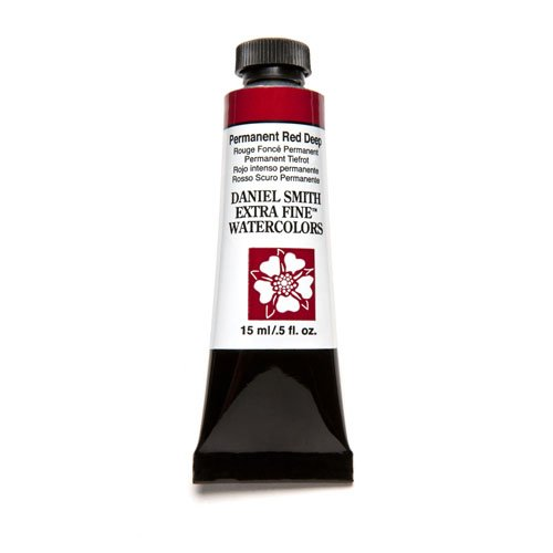 DANIEL SMITH Extra Fine Watercolor Paint, 15ml Tube, Permanent Red Deep, 284600069