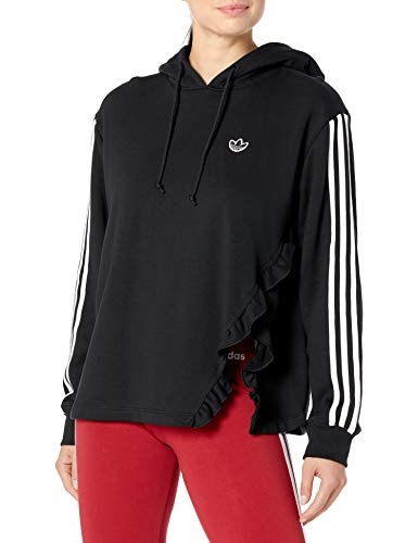 adidas Originals Sudadera con capucha para mujer - negro - Large