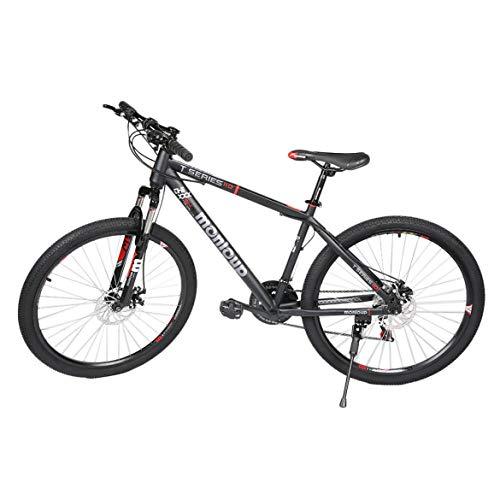 Bicicleta de montaña Plegable de 26 Pulgadas Bicicleta Plegable de 7 velocidades Negro MTB Sport JohnJohnsen
