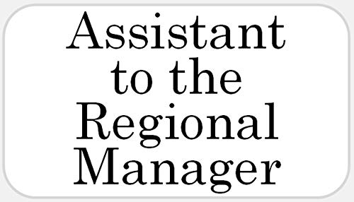 Assistant to The Regional Manager - 25 Stickers Pack 2.25 x 1.25 inches - Office