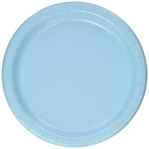 Creative Converting Pastel Blue Dinner Plates, 24 Count, 9' -