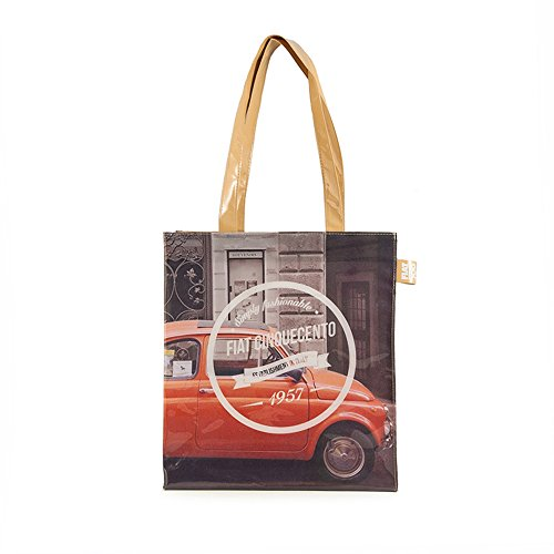 Fiat 500Shopper Women, PVC, Multi-Colour
