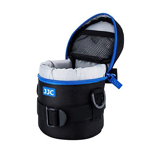 """JJC Deluxe Objektiv Tasche mit 1 x Umhängeband, Wasserabweisend, Schwarz, passt Objektiv Durchmesser und Höhe unter 78 x 125mm (3.1 x 4.9"""")"""