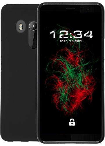 Baluum Mate Noir Coque en Silicone pour HTC U11 Plus Cas de téléphone Coquille Housse de téléphone