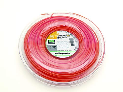 Ratioparts - Hilo de nailon de 4,3 mm Tornado Alu-Cut de 21 m, color naranja