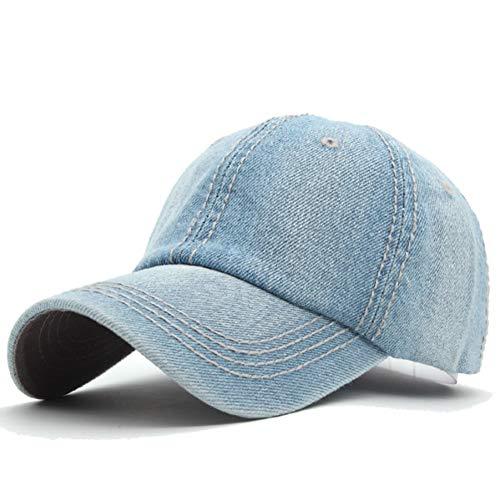 SSSGHH Basecap Herren Frauen Baseball Caps Hüte Für Männer Denim Jeans Band Hysteresenkappen Casquette Plain Knochen Hut Gorras Männer Casual Dad Cap Hut
