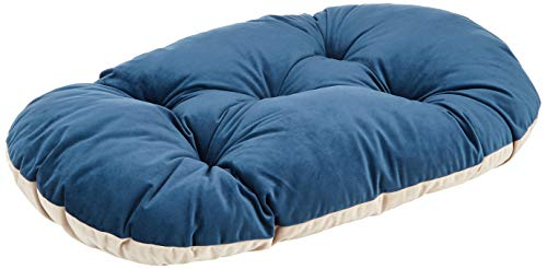 FERPLAST Coussin Dog Bed COJIN Velours Chien Chat Prince 78 Bleu Beige, Noir, Medium