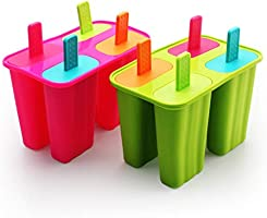 Ice Cream Moulds, Silicone Popsicle Molds Ice Pop Molds Maker BPA Free - Set of 8 - Food Grade Ice Cream Moulds Ice Pops...