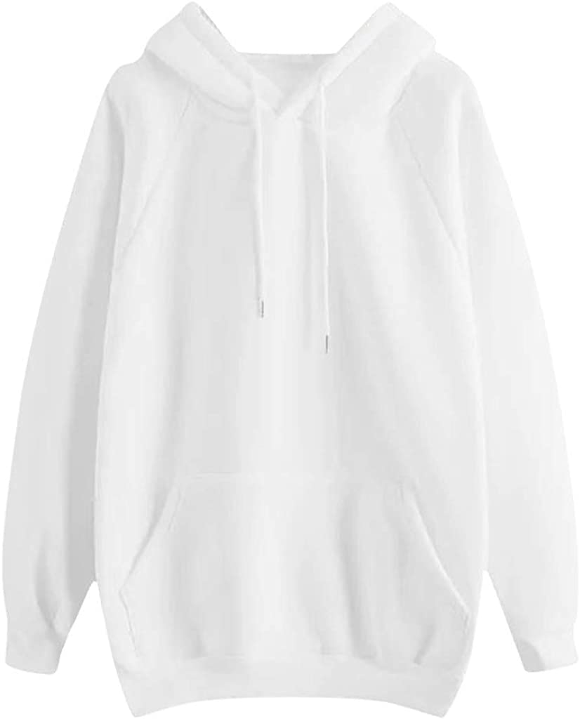 MASZONE Solid Color Hoodies for Teens Girls Drawstring Long Sleeves Pullover Sweatshirts with Designs Casual Loose Tops