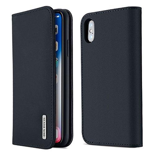 【WISH Series 高級牛革】iPhone Xs ケース iPhone X ケース 手帳型 本革 アイフォンXs アイフォンX カバー 全面保護 磁石付き カード入れ スタンド機能 耐衝撃 耐摩擦 人気 おしゃれ ギフトボックス付き ワイヤレス充電に