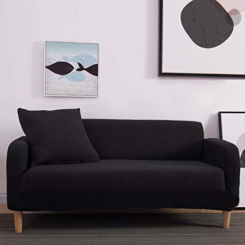 NOBCE Funda de sofá antisuciedad Funda de sofá de Sala de Estar en Forma de L Funda de sofá elástica Negra 235-300CM
