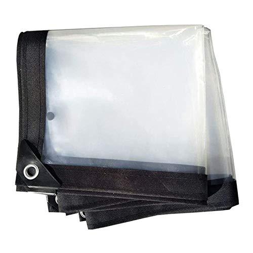 YJHH Lona Impermeable Transparente 2x10m, Lonas Impermeables Exterior Grandes, Plástico Ventana Balcón Flor Protección Cubierta, Resistente Al Desgarro Borde Reforzado