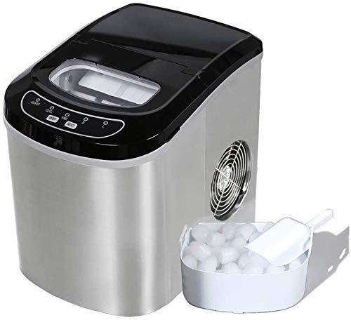 TXOZ-Q Cubo de Hielo Fabricante de la máquina, automática portátil cafetera eléctrica encimera de Hielo Estudiante Dormitorio Principal Cocina Barras de café té Tiendas, 15 kg / 24h (Color : A)